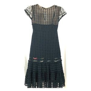  BNWT - Free People crochet dress ribbons frills